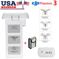 For DJI Phantom 3 4K Professional Advanced Standard LiPo Battery 4480mAh 15.2V