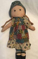 "Vtg Knickerbocker Holly Hobbie Rag Doll Toy Cloth American Greeting 15"""