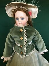 """14"""" Gebruder Kuhnlenz Doll With A Pretty Bisque Face And A Fashion Type Kid Body"""