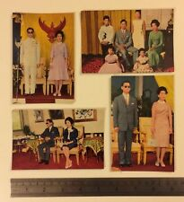 More details for set of 4 1970s postcards of king bhumibol adulyadej and his family. thailand.