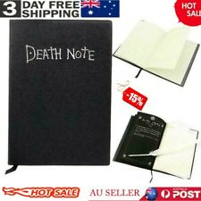 Death Note Cosplay Notebook & Feather Pen Book Japan Anime Writing Journal AU