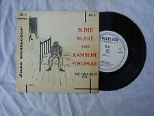 BLIND BLAKE AND RAMBLIN' THOMAS EP THE MALE BLUES VOL 3 jel 4.... 45rpm / blues