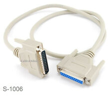 6ft DB25 Multi Purpose RS-232 Serial/Parallel M/F Straight-Thru Extension Cable