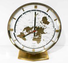 Rare 1960's Kundo Kieninger & Obergfell World Clock West Germany -ele quartz
