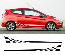 ford fiesta side stripes decals stickers graphic side stripe both sides2008-2017