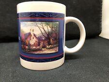 Thomas Kinkade Coffee Cup Mug Morning Glory Cottage 2003 Collector Design