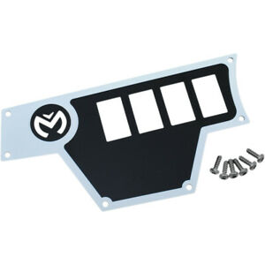 Moose Utility Division Large Dash Plate - Left - White - RZR | 100-4361-PU