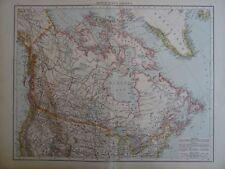 GRANDE mappa vittoriana 1896 del Canada British North AMERIA il Times ATLAS 1st Gen