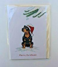 ROTTWEILER CHRISTMAS GREETINGS CARD CARTOON