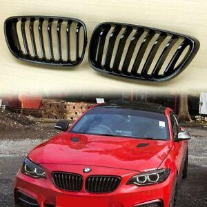 14-17 FITS BMW F22 F23 F87 GLOSS BLACK M2 LOOK FRONT GRILL ABS 220i 228i 235i