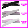 Nail Files 100/180/240 Grit Professional Quality Half Moon Buffer Emery Board