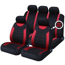 Universal Coche Carnaby Negro y Rojo Fundas de asiento lavable Airbag Safe 8 piezas conjunto