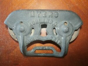 Vintage Antique Cast Iron Myers Sure Grip Door Roller Bracket Mount