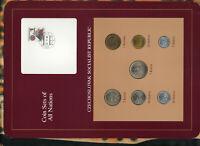 Coin Sets of All Nations Czechoslovakia 1969-1986 UNC 5 Korun 1980 2 Korun 1986