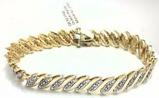 GENUINE 1.92 Cts DIAMONDS TENNIS BRACELET 14K GOLD Msrp $2,200.00 *Reduced Price