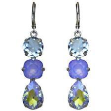 KIRKS FOLLY Shameless Leverback Pierced Earrings - violet / silvertone