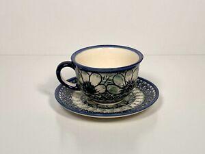 Nowogrodziec Polish Pottery Tea Set - UNIKAT