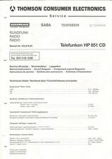 THOMSON - Telefunken HP 851 CD Service Einstellungen Schaltplan Diagrams - B6414