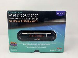 Whistler PRO 3700 Laser Radar Detector 360 Degree Protection Voice Alerts New