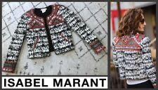 ISABEL MARANT X H&M Embellished Print Boho Beaded Jacket - Size 4