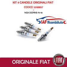4 CANDELE ORIGINALI FIAT PANDA 500 1.2 GRANDE PUNTO  55188857 NGK DCPR7E-N-10