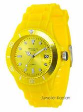 Madison New York U4167-02 Gelb Damen Herren Uhr Silikon Kinderuhr Unisexuhr