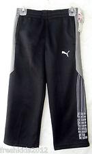 PUMA Sport LifeStyle Fleece-Lined Active Pants Black Boys size 4 NWT B5375