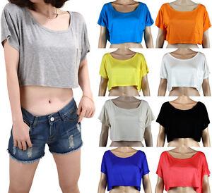 Sexy T-Shirt Top Shirt Bauchfrei Universalgröße S - XXL