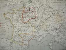 LA FRANCE à la mort de Louis VII ( dit le jeune) 1108 à 1180