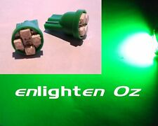 2x Green LED SMD Parker Globes bulbs T10: Statesman Caprice VQ VR VS WH WK WL
