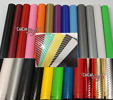 2D 3D 4D Carbon Fibre Vinyl Wrap 300mm(11.8in) x 1520mm(59.8in) Bubble /AIR Free