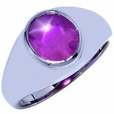 Modern Design AGL Graded 7.34 Carat Star Ruby Platinum Ring