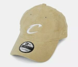 New Era 9twenty Cleveland Cavs Suede Strapback Hat Tan Unisex Adjustable NEW