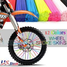 72PC Universal Wheel Spoke Wraps Motorcycle Cover Pipe Skins For Dirt Bike honda