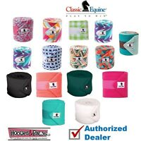 Classic Equine Set of 4 POLO WRAPS Soft Stable Horse Tack ALL COLORS Polos