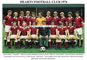 HEARTS FC TEAM PRINTS 1970's/80's (1970/1971/1974/1975/1976/1980/1982/1983/1984)