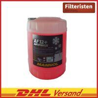 10 Liter Mannol  Kühlerfrostschutz Rot Antifreeze AF12+ -40°C Kühlmittel VW Audi