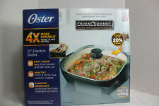 NEW Oster CKSTSKFM12W-ECO DuraCeramic Electric 12 Inch Skillet
