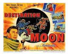 Destino Moon Poster 02 Letrero De Metal A4 12x8 Aluminio
