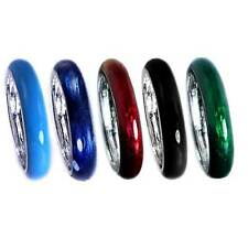 *5-PAK*_SAVE_MULTI-COMBO#2_ENAMEL BAND RING_SZ-8 Silver