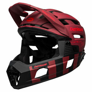 Bell Super Air R MIPS MTB Full Face Cycle Bike Helmet Fasthouse Matt Red / Black