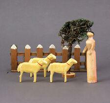 Modèle Ferme en bois avec Chèvres en Boîte durée À 1900 Scandinavie