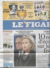 LE FIGARO N°20545 21/08/2010 CROISSANCE EN BAISSE/ VIAN/ NOTHOMB/ NAZCA/ KINDLE