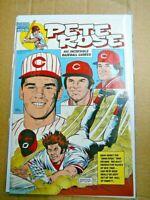 Rare PETE ROSE # 1 COMIC BOOK CINCINNATI REDS 1st Edition Editor Signed #151