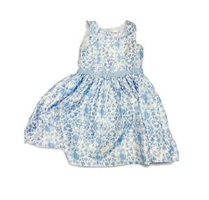 Dress for girls GYMBOREE $48 White blue party dress US Sz 6