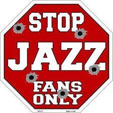 NBA Basketball Utah Jazz Metal Stop Sign Man Cave Garage Barn Game Room BS-271