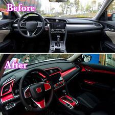 Car Interior Dashboard Center Console Full Stickers Trim For Honda Civic 2016-18
