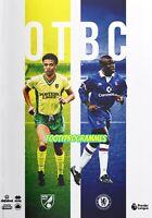 Stunning Norwich V Chelsea 2019/20 Premier League Programme