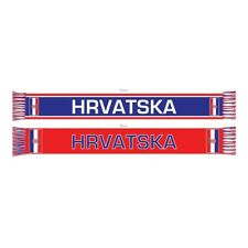 CROATIA DOUBLE SIDED SCARF FIFA WORLD CUP 2018 MADE IN THE UK 100% ACRYLIC