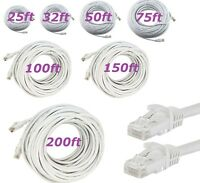 CAT5 CAT5e RJ45 Ethernet LAN Network Patch Cable For PS PC XBox Router UTP White
